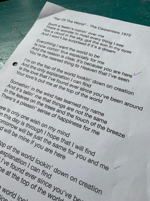 Top of the world lyrics